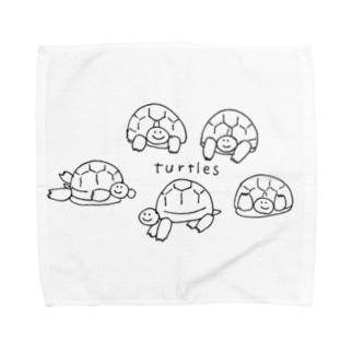 ゆるーいタートルズ Towel handkerchiefs