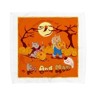 Nan and Kii ハロウィン2019 Towel handkerchiefs