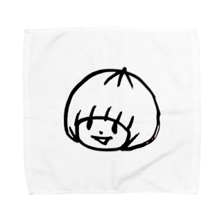 おかっぱミユキロゴマーク Towel Handkerchief