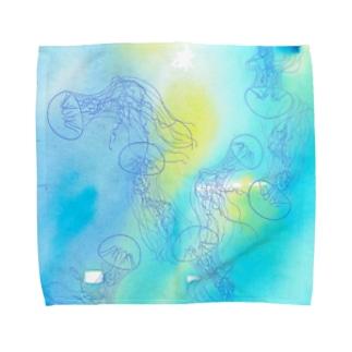 ギヤマンハナクラゲ Towel handkerchiefs