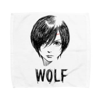 WOLF Towel Handkerchief