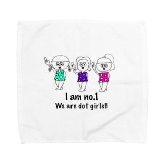 ドットガールちゃん Towel handkerchiefs