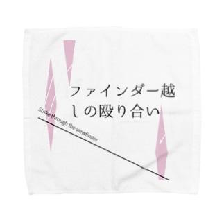 ファ殴 黒プリント Towel handkerchiefs