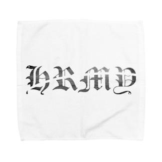 タオルロゴ黒 Towel handkerchiefs