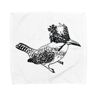 キリッとしたヤマセミ Towel handkerchiefs