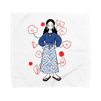 お花だよ〜 Towel Handkerchief
