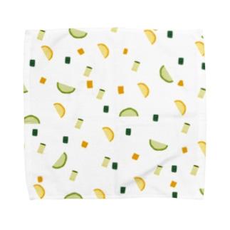 ナツヤサイ(ズッキーニ) Towel handkerchiefs