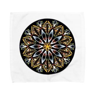 オレンジシャーベット-丸ver. Towel handkerchiefs