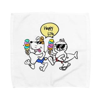 チャリティ ハッピーライフ Towel handkerchiefs