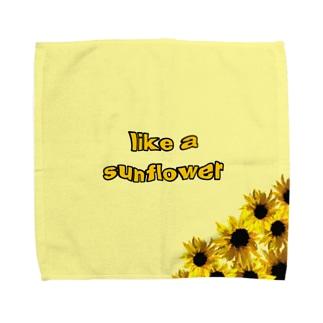 like a sunflower Towel handkerchiefs