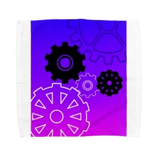 歯車 Towel handkerchiefs