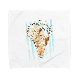 クソ暑〜 Towel handkerchiefs