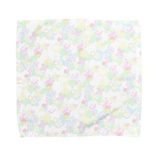 ぱすてるかわぴよ柄 Towel handkerchiefs