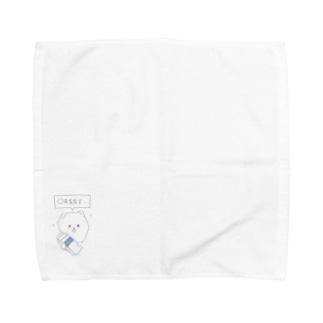何喋ってるか分からないポメラニアン〜牛乳パック編〜 Towel Handkerchief