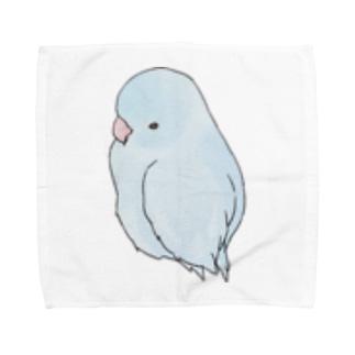 可愛いアメリカンホワイト マメルリハちゃん【まめるりはことり】 Towel handkerchiefs