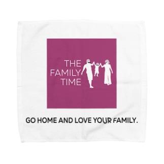 家族の時間(THE FAMILY TIME) ピンク Towel handkerchiefs