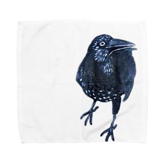 カラスん Towel handkerchiefs