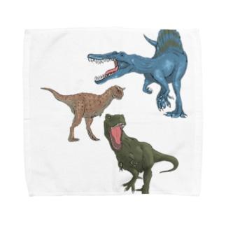馬小屋の恐竜 Towel handkerchiefs