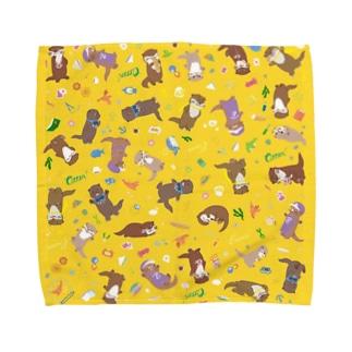 カワウソラボのなかまたち Towel handkerchiefs