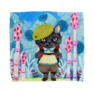 wokasinaiwoのつくしの小道 Towel handkerchiefs