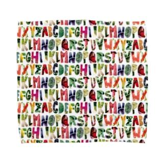 Alphabet of Vegetables Towel handkerchiefs