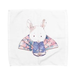 かわいいウサギ Towel handkerchiefs