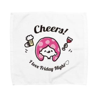 お酒が好き サトモッティ Towel handkerchiefs