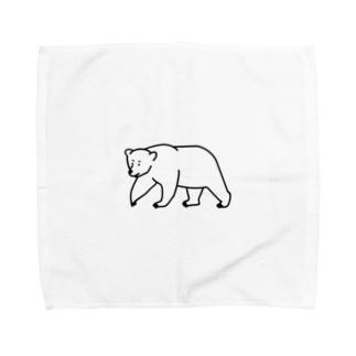 クマ Towel handkerchiefs