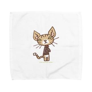ワタニャベ ネコ Towel handkerchiefs