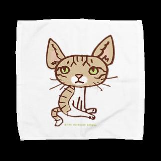ザ・ワタナバッフルの ワタニャベ ネコ Towel handkerchiefs