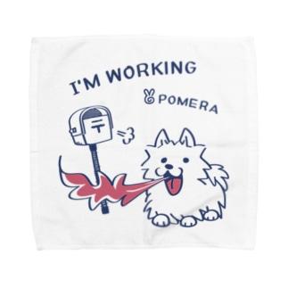 *suzuriDeMonyaa.tag*のCT47 POMERA_3 I'M WORKING Towel handkerchiefs