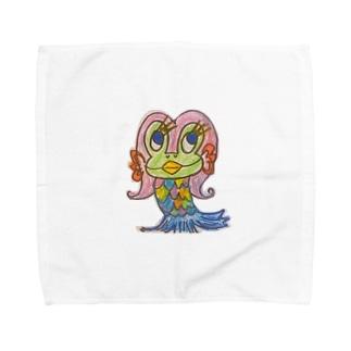 カエルのあまびえちゃん🐸 Towel handkerchiefs