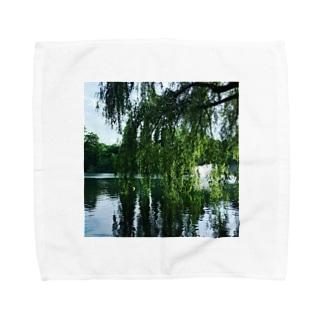 井の頭公園で待ち合わせ。 Towel handkerchiefs