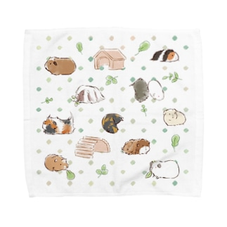 たくさんモルモット Towel Handkerchief