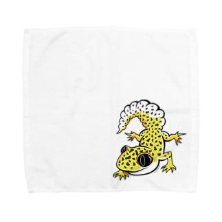 ヒョウモントカゲモドキタオルハンカチL Towel handkerchiefs