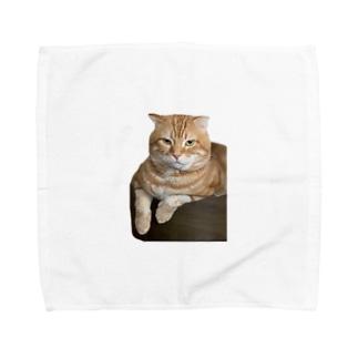 巨大ドラたぬき先生 Towel handkerchiefs