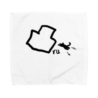 凸る猫 Towel handkerchiefs
