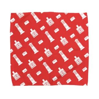 ポストと手紙 Towel handkerchiefs