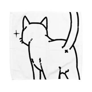 ねこけつ(アップ) Towel handkerchiefs