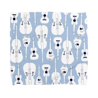 マンドリンオーケストラ(blue) Towel handkerchiefs