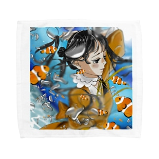 Anemone fish Towel handkerchiefs