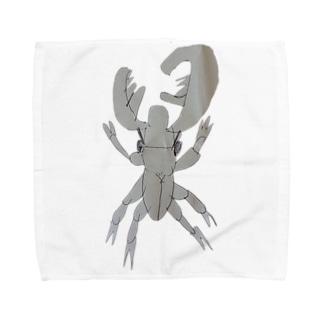 かっこいいクワガタ Towel handkerchiefs