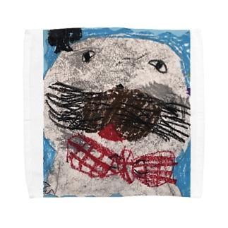おしゃれなあざらし Towel handkerchiefs