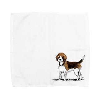 ビーグルのラッピーさん Towel handkerchiefs