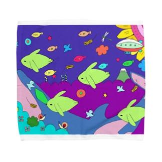 うさぎの夢 Towel handkerchiefs