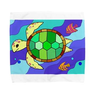 ウミガメの旅 Towel handkerchiefs