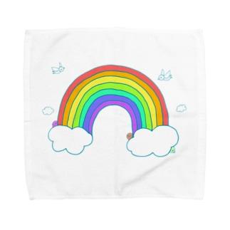 虹の空 Towel handkerchiefs