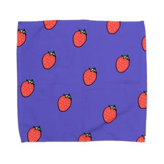 いちご柄 Towel handkerchiefs