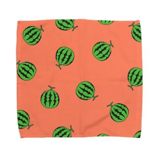 スイカ柄 Towel handkerchiefs