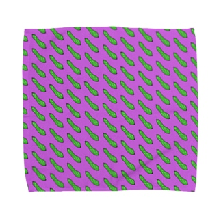 キュウリ柄 Towel handkerchiefs